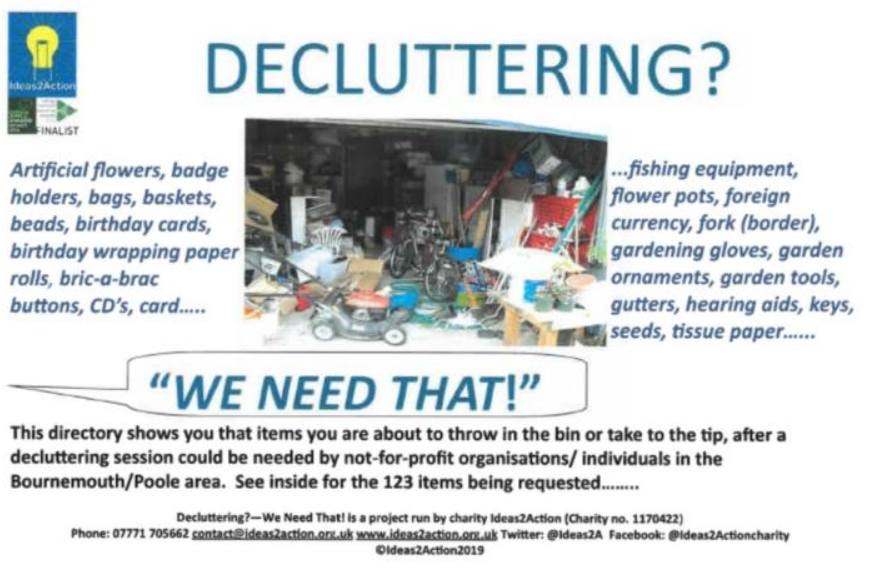 Decluttering charity initiative